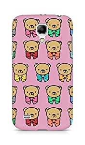 Amez designer printed 3d premium high quality back case cover for Samsung Galaxy S4 Mini (Bears multicolored graphic background)