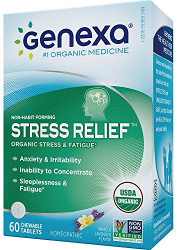 Genexa-Stress-Anxiety-Relief-Certified-Organic-Physician-Formulated-Non-Habit-Forming-Natural-Non-GMO-Homeopathic-Stress-Supplement-Promotes-Calmness-Relaxation-60-Chewable-Tablets
