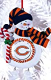 Chicago Bears Jolly Christmas Snowman Ornament
