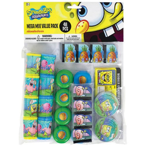 Spongebob Mega Mix Favor Pack (For 8 Guests)