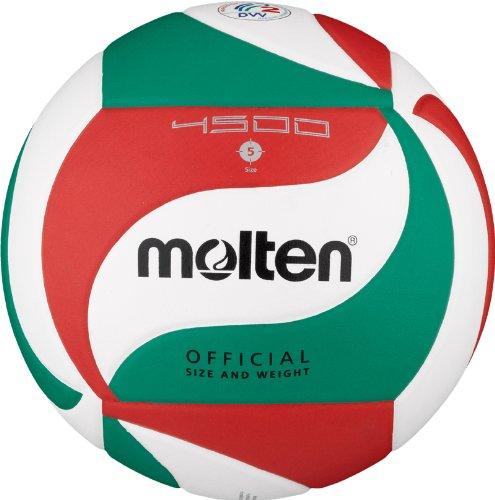 Molten Volleyball V5M4500, Weiß/Grün/Rot, 5