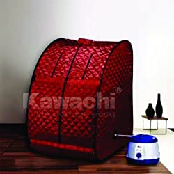 Kawachi Portable Steam and Sauna Bath (Red, 48 cm x 33 cm x 48 cm)