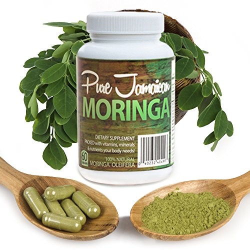 Organic Moringa Oleifera Powder Capsules Superfood Supplement,