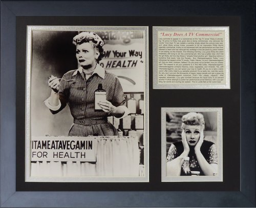 Legends Never Die I Love Lucy Vitameatavegamin Framed Photo Collage, 11x14-Inch