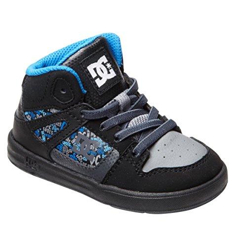 Dc Rebound Se Ul Sneaker (Toddler),Black/Cobalt,9 M Us Toddler front-932431