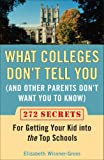 img - for What Colleges Don't Tell You (And Other Parents Don't Want You to Know): 272 Secrets for Getting Your Kid into the Top Schools book / textbook / text book
