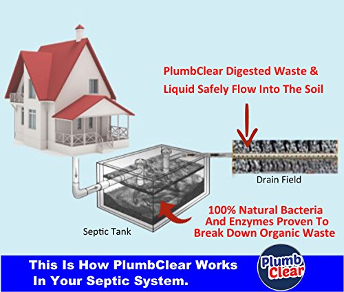 Drain Cleaner Septic Tank Treatment Drain Opener 1 Year Supply Safe Natural Enzymes