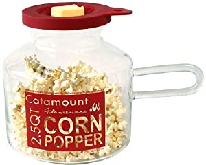 Catamount Glassware CG4526 Classic Design Microwave Corn Popper, 2.5-Quart, Red by Catamount