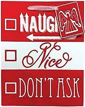Jillson Roberts Medium Christmas Gift Bags Naughty or Nice 6-Count XMT794