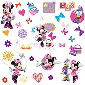 RoomMates RMK1666SCS Mickey & Friends - Minnie Bow-Tique Peel & Stick Wall Decals by RoomMates