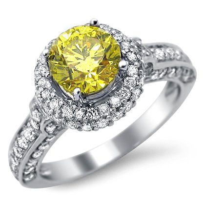 Yellow Canary Diamond Wedding Rings 9 Stunning  ct Yellow Canary