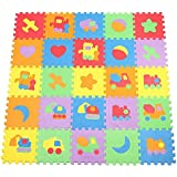 Alcoa Prime 10pcs Kids Puzzle Vehicle Pattern 10 Tiles With Edges Play Foam Mat (30*30CM)