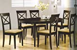 "Kitchen Table W/ 6 Chairs , Rich Cuppucino Finish ""new"""
