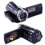 PowerLead Puto PLD003 Mini DV C8 16MP High Definition Digital Video Camcorder DVR 2.7'' TFT LCD 16x Zoom Hd Video Recorder Camera 1280 x 720p Digital Video Camcorder(Black)