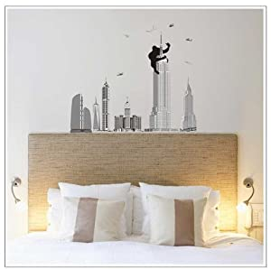 OneHouse Monkey the Pentagon City Mural Wall Sticker for Fashion Brief Home Decorative Decor from OneHouse