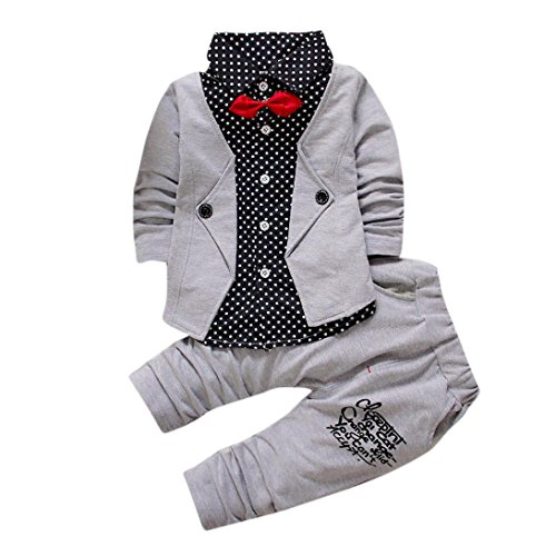 FEITONG Kid Baby Boy Gentry Clothes Set Formal Party Christening Wedding Tuxedo Bow Suit (24 Month) (Baby Jordan Clothes compare prices)