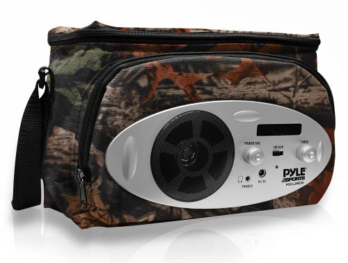Pyle Pscl28Cm Cooler Bag With Built In Am/Fm Radio, Headphone Output And Aux In For Mp3 Players (Camouflage) front-1068615