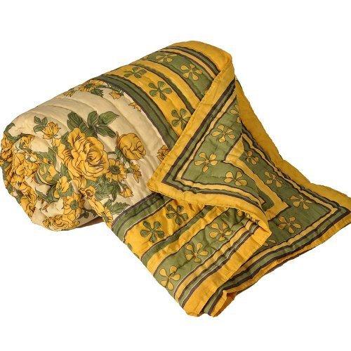Bloque de mano Jaipuri Little India cama doble estampado multicolor