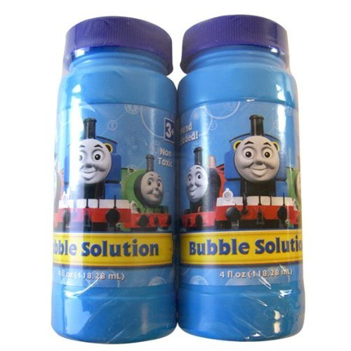 Thomas and Friends Bubble Solution- 4fl Oz Thomas Bubble Liquid - 2 Pack - 1