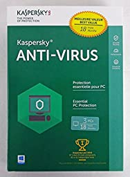 Kaspersky Anti-Virus 3PC 1YR (FREE Upgrade to 2016 + Extra 6 Months)