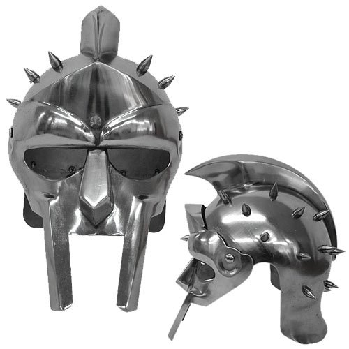 Medieval Functional Helmet of the Spaniard Maximus Roman Gladiator Armor