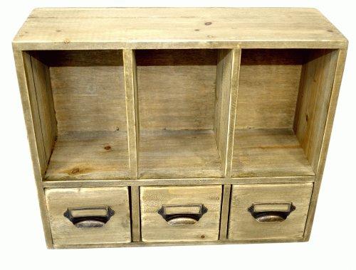 Geko Organiseur de bureau avec compartiments et tiroirs 38x13x31cm
