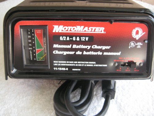 Schumacher Battery Charger Manual >> MotoMaster 6 & 12 Volt, 6/2 Amps, Manual Battery Charger-Model 11-1549-4 (Manufactured by ...