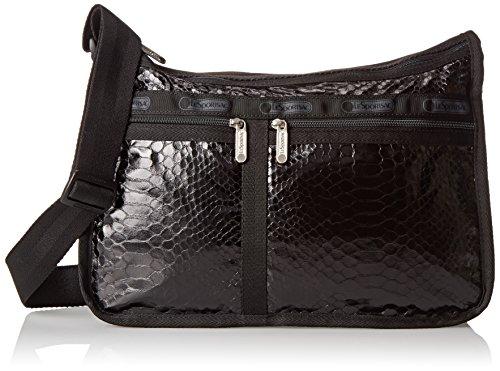 LeSportsac Deluxe Everyday Handbag,Leatherette Snake,One Size