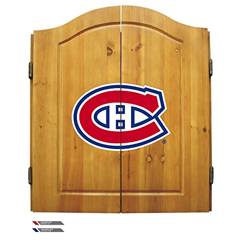 Nhl Montreal Canadiens Team Dartboard Cabinet Set