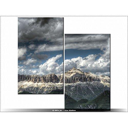 Art gallery xxl 60 x 60cm paysage italie tableau - Tableau multi panneaux ...