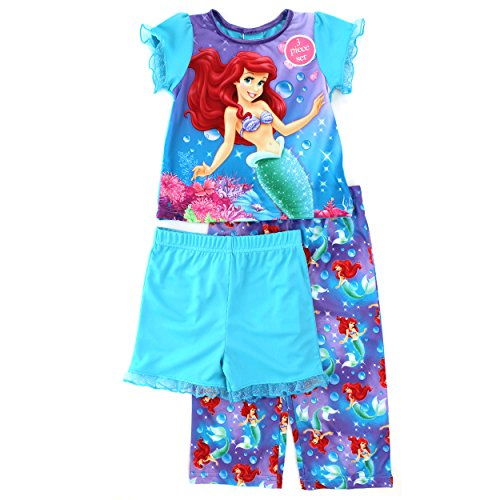 Little Mermaid Ariel Toddler 3 pc Poly Pajamas Set