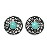Ginasy Silver Plated Round Turquoise…