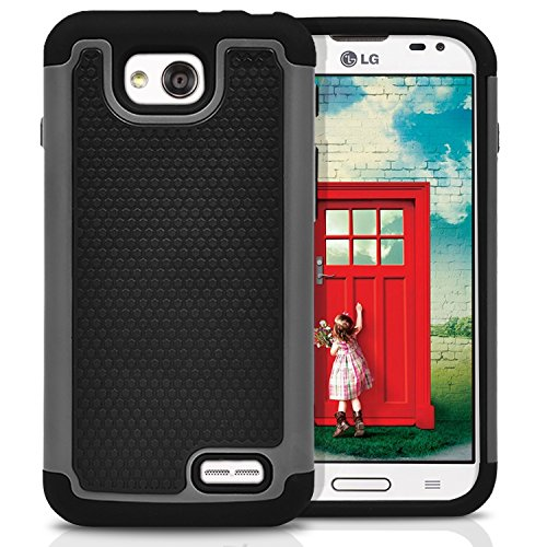 LG Optimus L90 Case, MagicMobile® [Dual Armor Series] Rugged Impact Resistant Case LG Optimus L90 Slim Cover Shockproof Silicone Skin Hard Plastic Shell [Gray] Armor Protective Case for LG Optimus L90 (Cell Phone Cases Lg Optimus L90 compare prices)