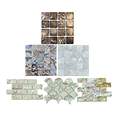Art3d Mother of Pearl Mosaic Tiles for Spas/Pools/Bathroom Walls/Kitchen Backsplashes Tiles from Art3d