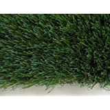 "15'x LENGTH - 54 Oz. Face Weight/32 Oz. Backing - PREMIUM SYNTHETIC TURF - Indoor / Outdoor Green Two-Toned Artificial Grass w/ a Natural Tan Thatch and Drainage Holes. (Blade Height: 1.5"") Multiple Applications for Commercial & Residential Landscaping (Terraces, Dog Runs, Play Grounds and Sports Fields) Much Much More! Many Sizes & Shapes to Choose From."