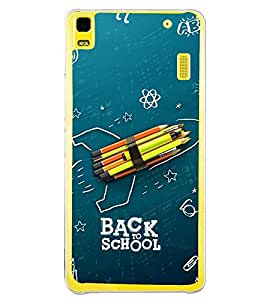 Fuson Premium Back To School Metal Printed with Hard Plastic Back Case Cover for Lenovo K3 Note