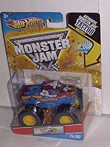 2011 HOT WHEELS 1:64 SCALE ~KRAZY TRAIN~ TATTOO SERIES MONSTER JAM TRUCK #74/80
