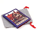 Printed Leather Travel Pass / Oyster Card Holder - 'Metroland'