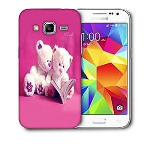 Snoogg White Teddy Bear Designer Protective Back Case Cover For Samsung Galaxy Core Prime