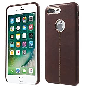 MEEPHONG Premium Luxury Leather Back Cover Vorson Series Cover Case for apple iphone 7 g (BROWN)