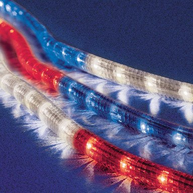 Celebrations Rope Lights 18', Red, White and Blue