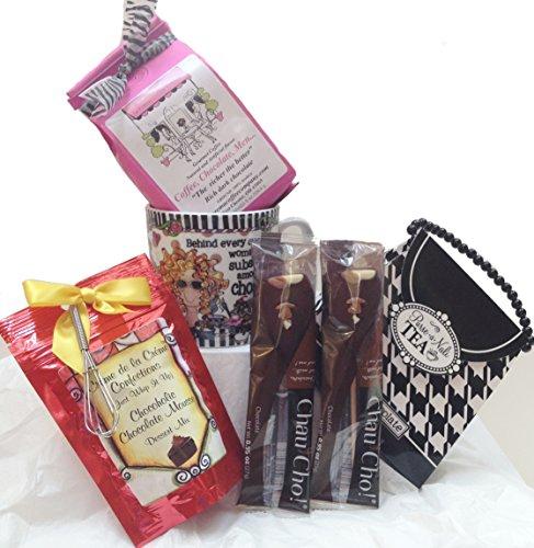 Chocolate Fantasy In Progress Chocolate Lovers Gift Set - Suzy Toronto Mug, Hot Chocolate Sticks, La Crema Coffee, Chocolate Mousse, Tea