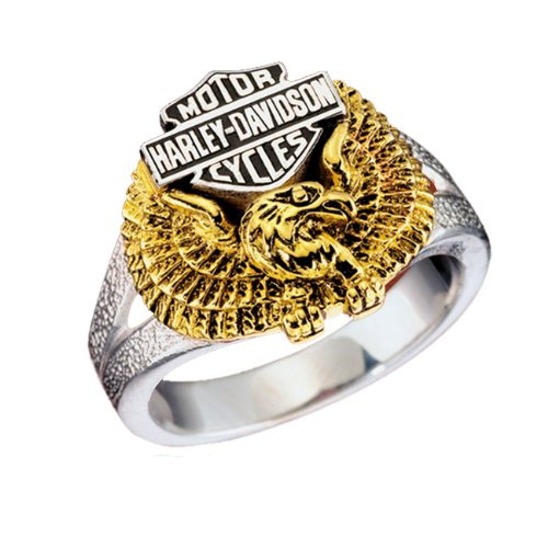 Sterling Silver Harley-Davidson Ladies Eagle Ring