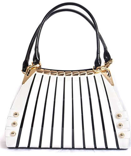 BRAVOHANDBAGS-Womens-Irina-Signature-Series-Gold-and-White-Print-Large