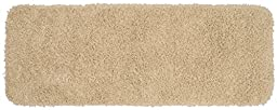 Garland Rug Jazz Runner Shaggy Washable Nylon Rug, 22-Inch by 60-Inch, Linen