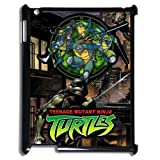 Teenage Mutant Ninja Turtles Comics Ipad 2/3/4 Colorful Case, Ipad 2/3/4 Black Plastic Protective Case Cover, Water Proof Ipad 2/3/4 Diy Case