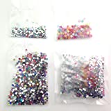 1,500pc Mixed Acrylic and Resin Flatback Rhinestones - 2mm - 3mm / 3 Designs Included
