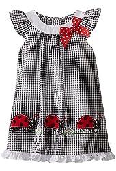 Good Lad Little Girls' Seersucker Ladybug Sundress