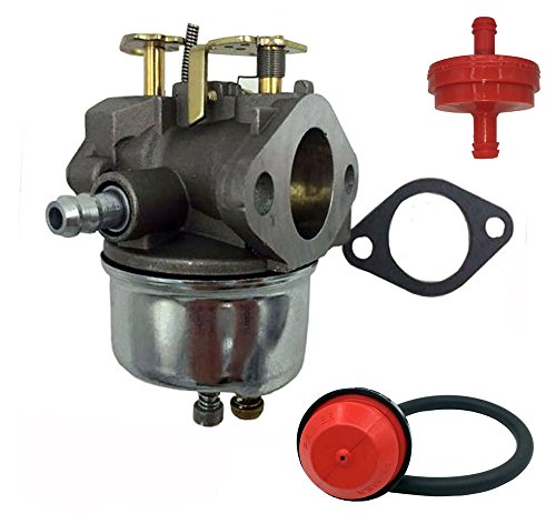 HOOAI NEW Carb Carburetor For Tecumseh 632334A 632334 632111 HM70 HM80 HMSK80 HMSK90 fits 38080 824 Snow Thrower Snowblower With Free Gasket & Primer Bulb & Fuel Filter & Fuel Line (Carburetor Primer compare prices)