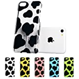 iPhone 5C Case, ESR® Animal Kingdom Series Hard Clear Back Cover Snap on Case for iPhone 5C (Cow)